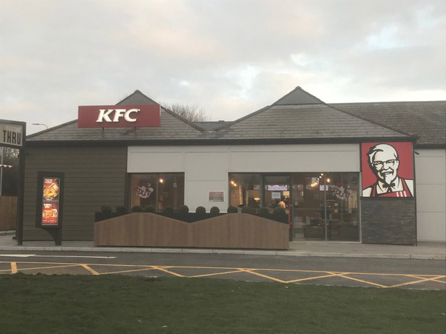 KFC front of fast food restaurant